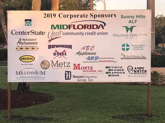 Corporate sign for 2019 Golf Tournament 625